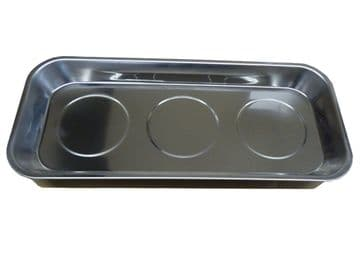 """2 x MAGNETIC 14"""" LARGE TRAY 358mm x 158mm mechanic auto parts holder tray dish"""